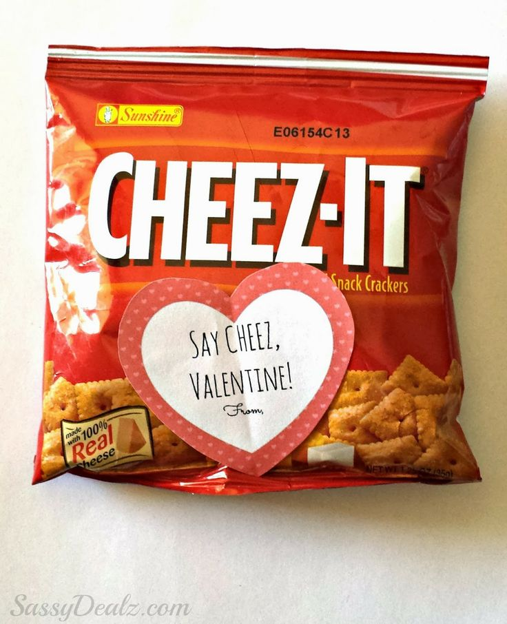 Nugget Gift Ideas Apparel: Cheez-It Crackers Valentine's Day Gift Bag Idea For Kids