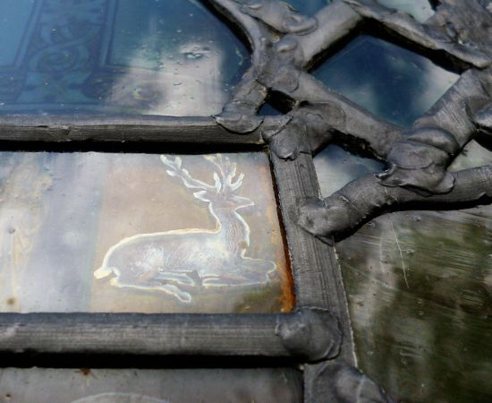 little moreton hall stained glass deer