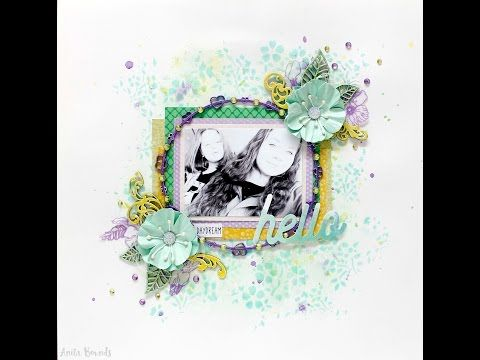 Hello Layout By Anita Bownds - YouTube