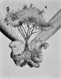 Image result for hands holding something drawing