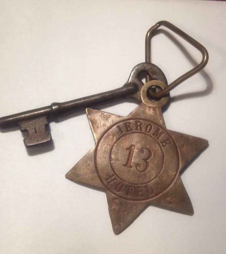 Old hotel key circa 1890. Perhaps the fabulous Jerome Hotel in Aspen, Colorado. My fave number is 13 :-)