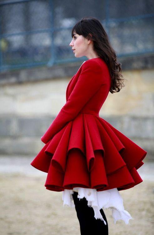 Street style during Paris Fashion Week, Fall 2013. Incredible coat!   #ParisFashionWeek