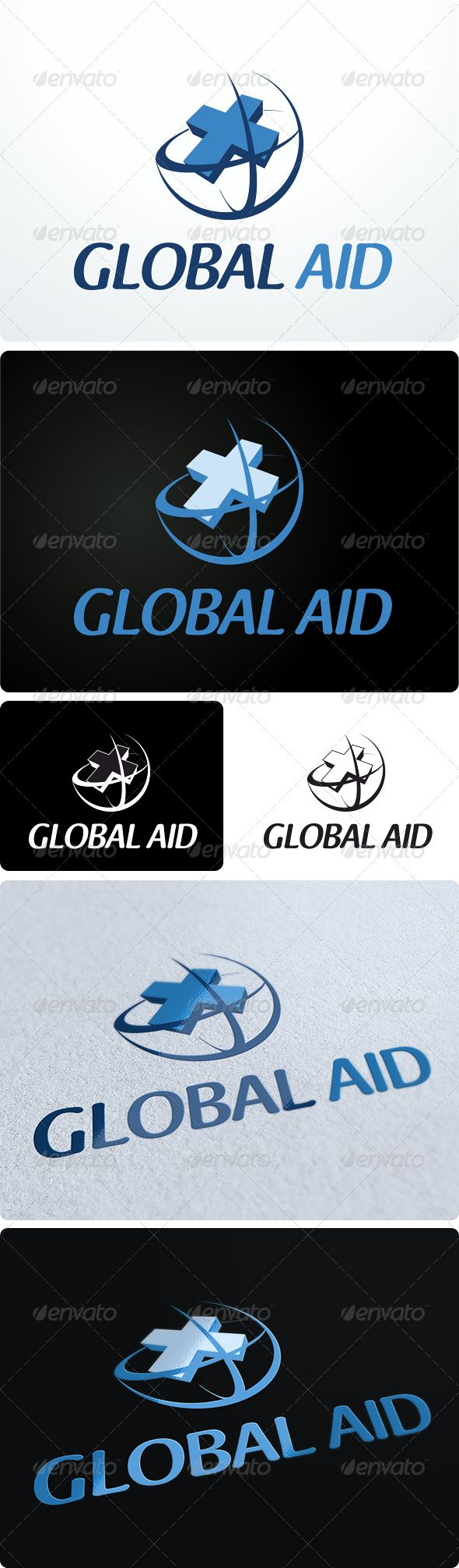 Global Aid Logo Design  #GraphicRiver         Creative medical / pharmacy logo design.  	 This product is FULLY customizable.  	 Type: Vector Versions included: 4 Files included: Corel Draw! .cdr, Adobe Illustrator .ai, .eps, transparent .png  Font used:  .dafont /wendelin.font 	 Enjoy!     Created: 16August12 GraphicsFilesIncluded: TransparentPNG #VectorEPS #AIIllustrator #CorelDRAWCDR Layered: No MinimumAdobeCSVersion: CS Resolution: Resizable Tags: aid #blue #clinic #cross #doctor #earth…