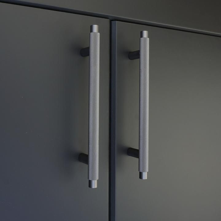 Knurled T Bar Solid Brass Handles Industrial Grey In 2020