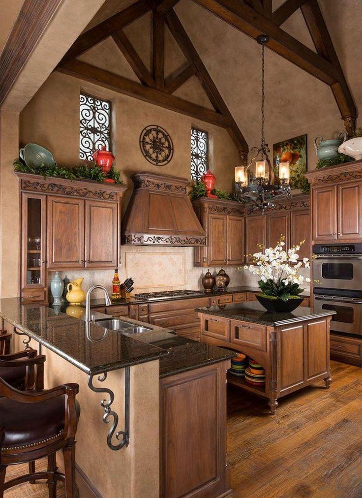 50 elegant tuscan kitchen design ideas kitchen kitchendesign kitchendesignideas tuscan on kitchen ideas elegant id=12129