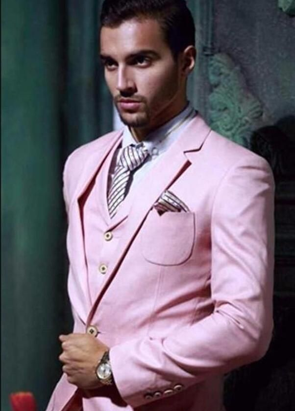 >> Click to Buy << Custom made High Quality Black/Red/White Pink Grooms Tuxedos Slim Fit Men Suits For Wedding Notched Lapel(Jacket+Pants+Vest+Tie) #Affiliate