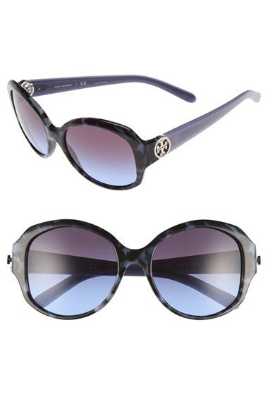 Tory Burch 55mm Round Sunglasses available at #Nordstrom