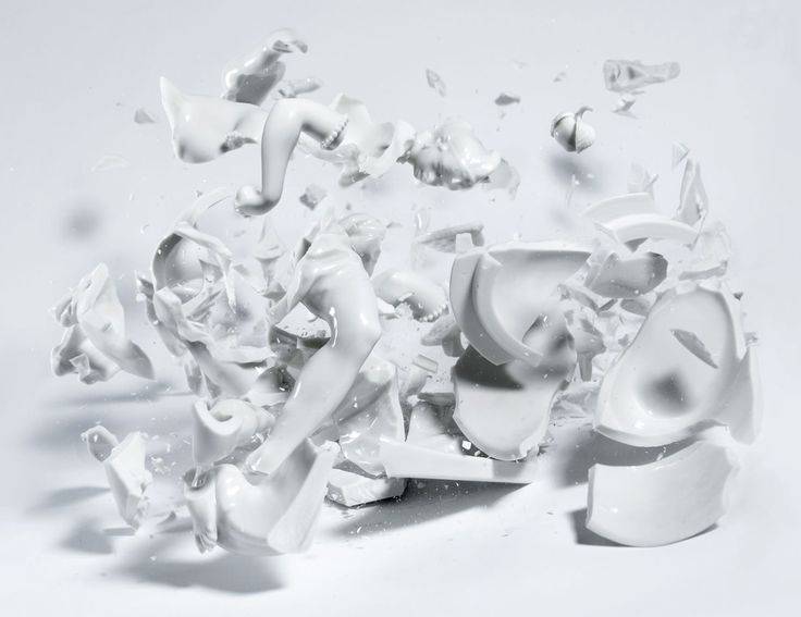 Bringing Ceramic Sculptures to Life by Smashing Them to Pieces | Klimas estimates he's gone through hundreds of figures in the course of making the series.  Martin Klimas  | WIRED.com