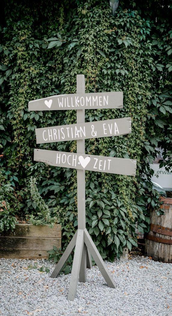 Willkommensschild Hochzeit – Hochzeitsfotograf Sauerland – Gut Stockhausen  #weg…