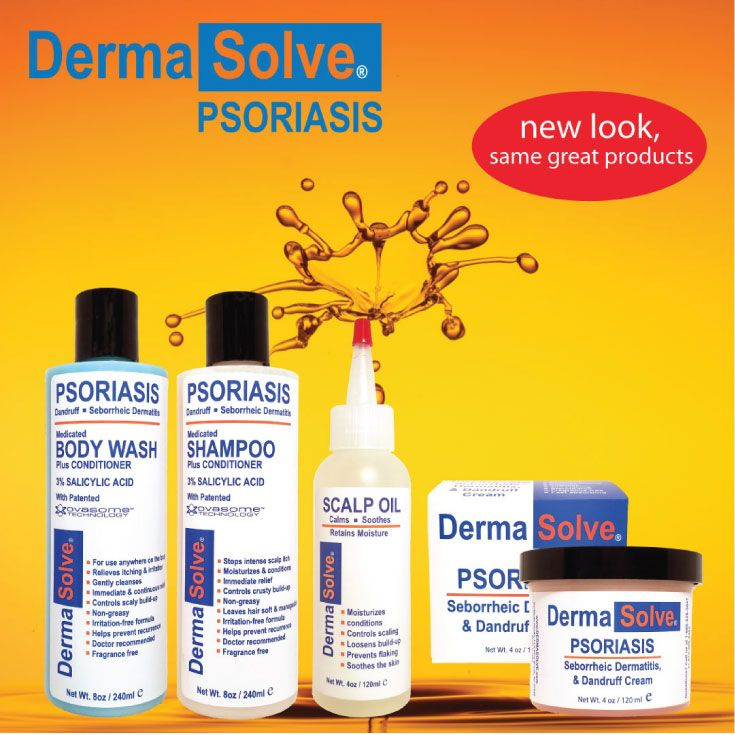 Dermasolve Psoriasis Treatment - New look, same great products.