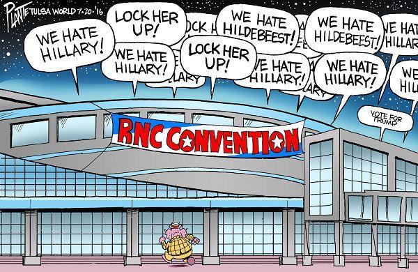 Cartoon by Bruce Plante - Bruce Plante Cartoon: RNC Convention 2016