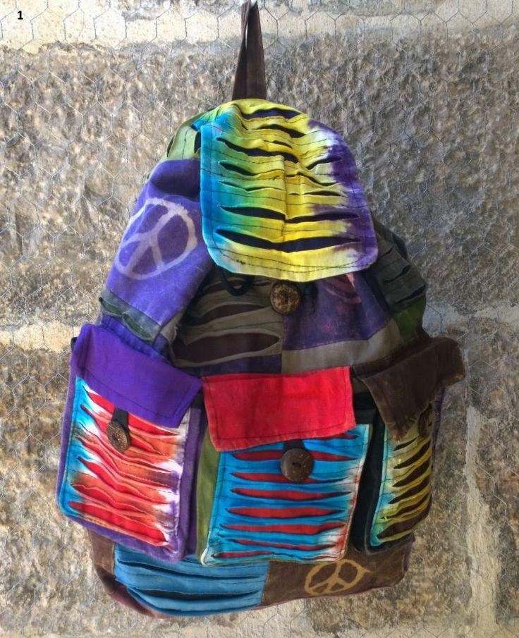 KARGO BİZDEN Bohem Sırt Çantası Patch Up Peace Sırt çantası , Batik Çanta, Keten Çanta, Barış Çanta , Nepal Çanta  -01 Zet.com'da 59 TL