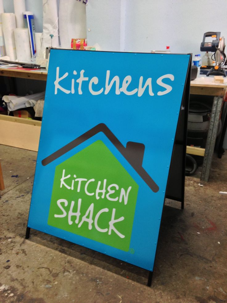 Vibrant AFrame designed and constructed by Sign A Rama Box Hill for Kitchen Shack.