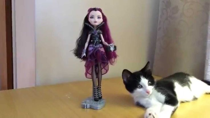 Toy Review! - Ever After High Raven Queen starring Loki Kitten