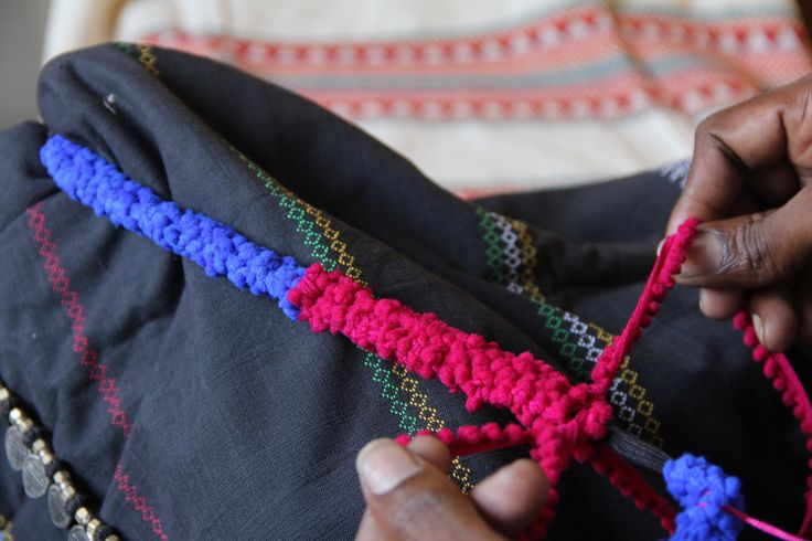 The making of our necklace, Boho, by one of our skilled craftspersons.
