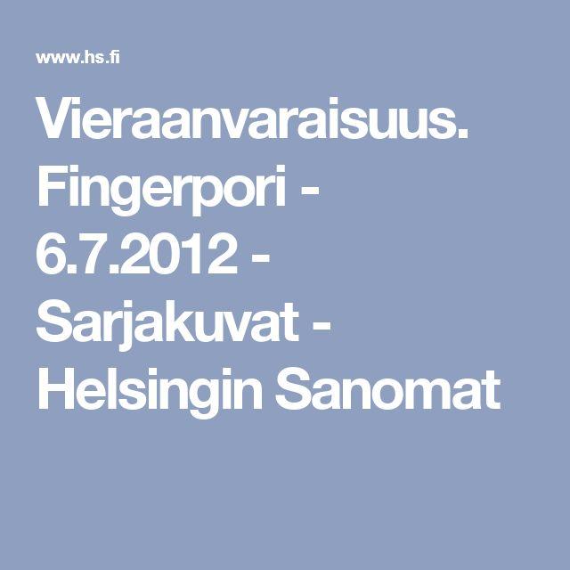 Vieraanvaraisuus. Fingerpori - 6.7.2012 - Sarjakuvat - Helsingin Sanomat