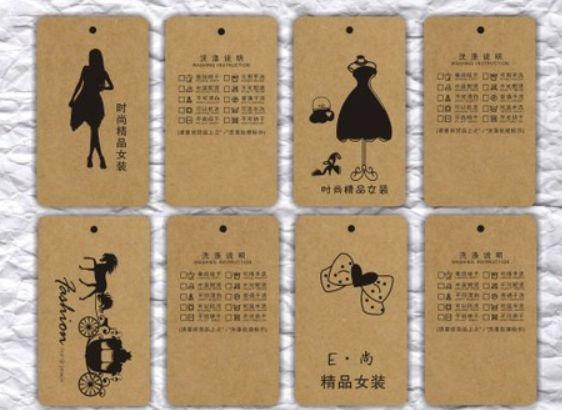 219 одежда мужчины в обычный ювелирные изделия бирки 1000 pcs/lot дрель разрез