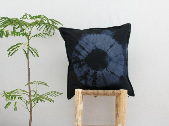 JUNO . tie dye cushion cover . pillow . throw by bohemianbabes