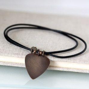 PICK Plektrum Leder Halskette | Unisex | Artikelnummer: 0029