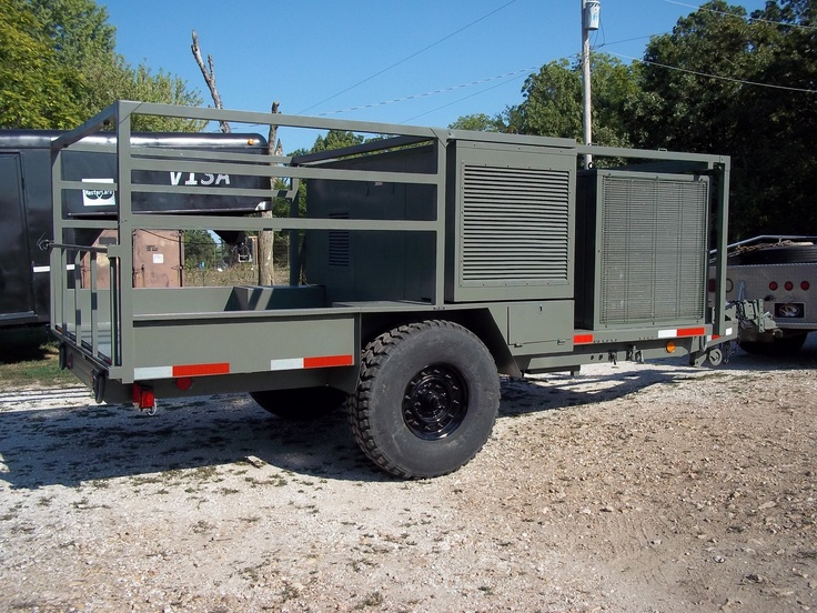 Humvee Generator Trailer Hummer H1 and HMMWV or Humvee