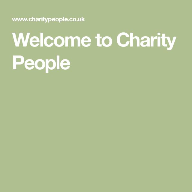 Welcome to Charity People