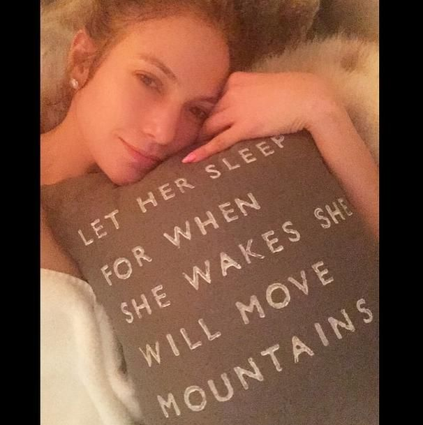 Celebs without makeup Instagram edition for 2015 -Jennifer Lopez,