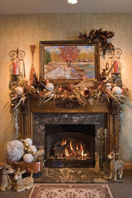 Pheasant Feathers On Mantel Decor Christmas Pinterest