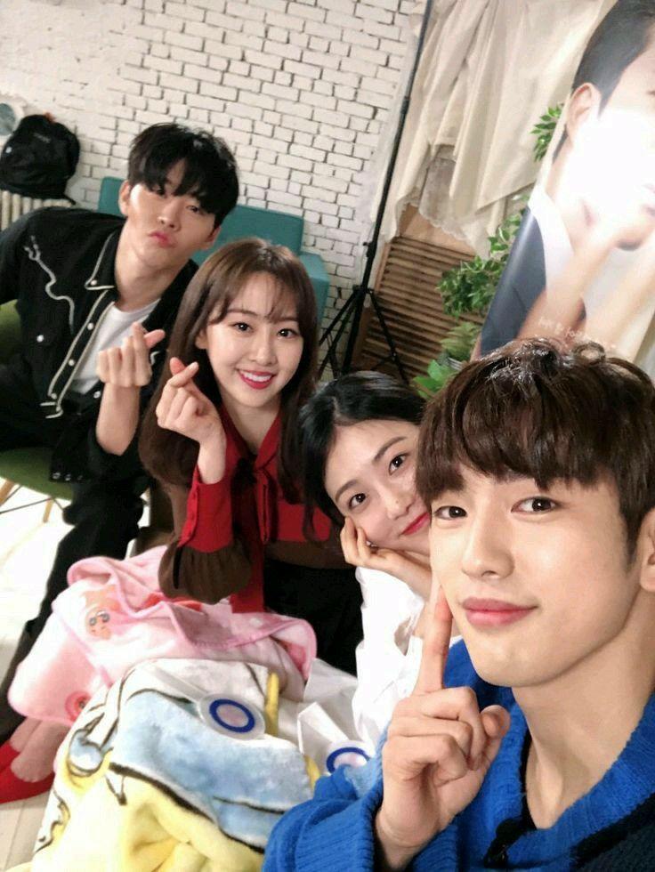 Kim Kwon, Dasom (Sistar), Shin Ye Eun, Jinyoung Got7 He is