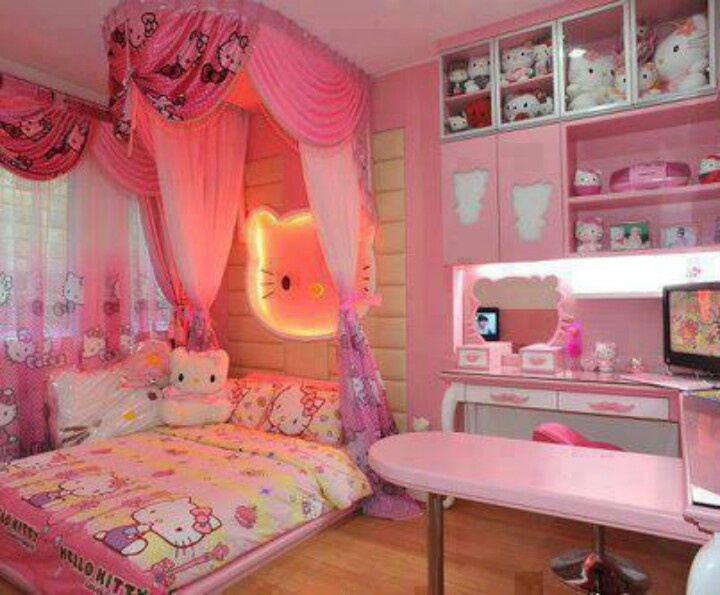 Hello Kitty Theme In Little Girls Bedroom Design Ideas See More Sofias Dream Roomokayits Also MY