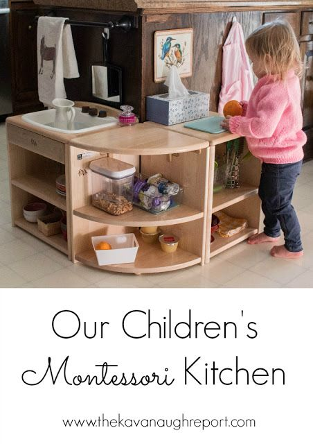 Our Children's Montessori Kitchen -- Montessori kitchen space for toddlers and older children!
