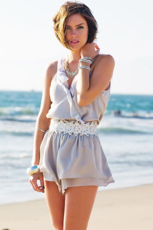 Jessica Stroup: Summer Dresses, Summer Fashion, Street Style, Beaches Outfits, Jessicastroup, Summer Outfits, Woman Clothing, Cute Rompers, Jessica Stroup