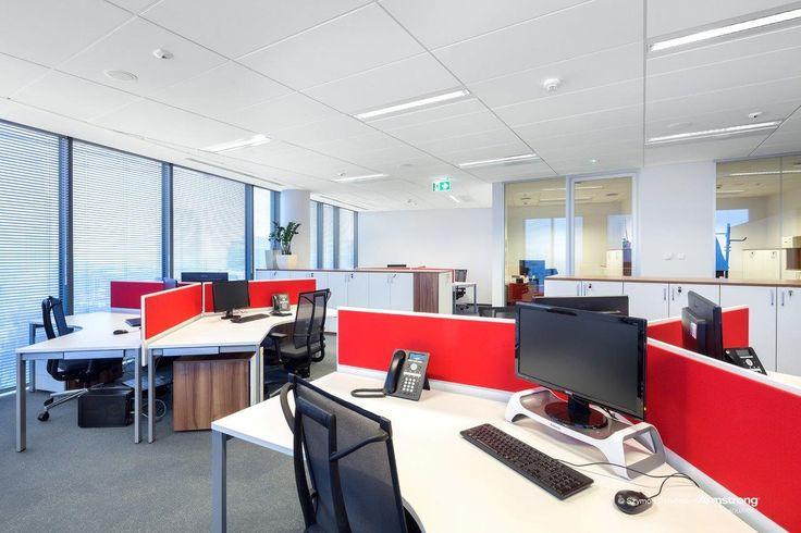 Hines Polska Sp. z o.o., Armstrong, sufity oodwieszane, sufit akustyczny,  ceiling, acoustic, Sierra OP, office, biuro