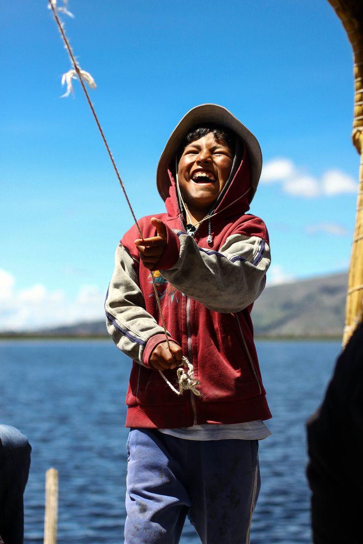 Lake Titicaca Fisherboy [2304 x 3456]