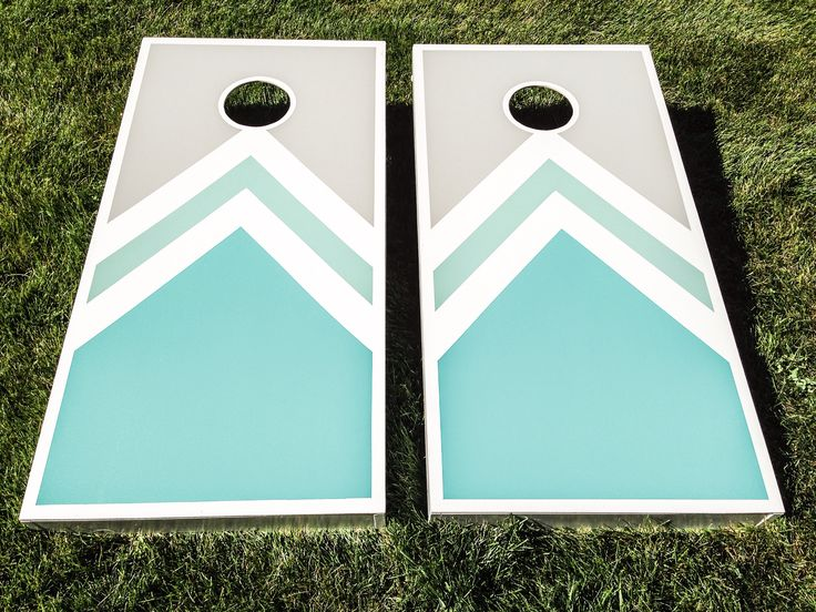 Turquoise Cornhole boards. I used 1x4x8s for the sides and a MDF sheet for the tops. By doing that, it made it a lot lighter to carry:) definitely use frog tape if your doing a design, it really works!