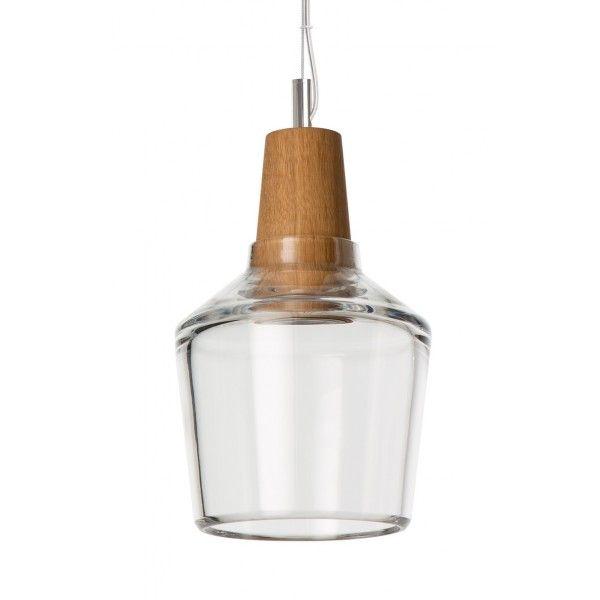 Lampa INDUSTRIAL 15/16P z bezbarwnego szkła - średnica 15 cm