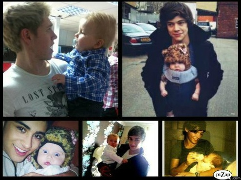 One Direction + Baby Lux = Most Adorable Pictures Ever.