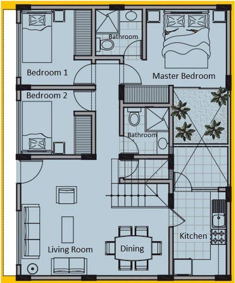 plan maison 8×10