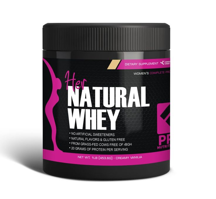 Protein Powder For Women - Her Natural Whey Protein Powder For Weight Loss & To Support Lean Muscle Mass - Low Carb - Gluten Free - rBGH Hormone Free - Naturally Sweetened with Stevia - Designed For Optimal Fat Loss (Creamy Vanilla) - Net Wt. 1 LB. #ProNutritionLabs #WeightLoss Her Natural Whey Protein Powder For Women. Her Natural Whey is made of the highest quality protein from grass fed cows free of recombinant bovine growth hormones (rBGH) and wholesome natural ingredien