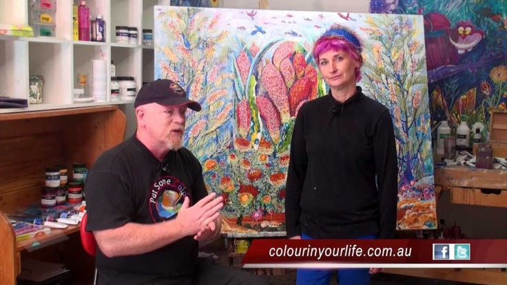 Great Painting Techniques with Jen Denise Stark ... this is a really great series of vids on YT by the way