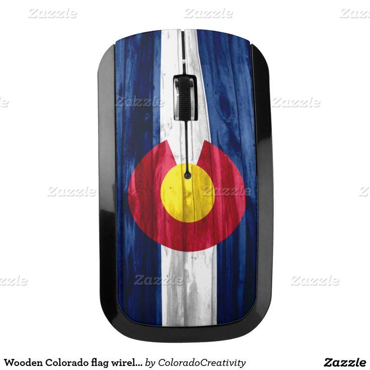 Wooden Colorado flag wireless computer mouse #wooden #look #Colorado #flag #wireless #computer #mouse  ArtisticAttitude.net