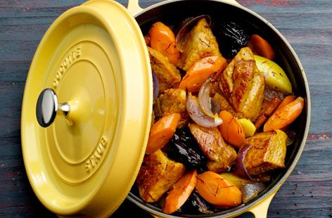 A simple Pork, prune and carrot casserole recipe for you to cook a great meal for family or friends. Buy the ingredients for our Pork, prune and carrot casserole recipe from Tesco today.