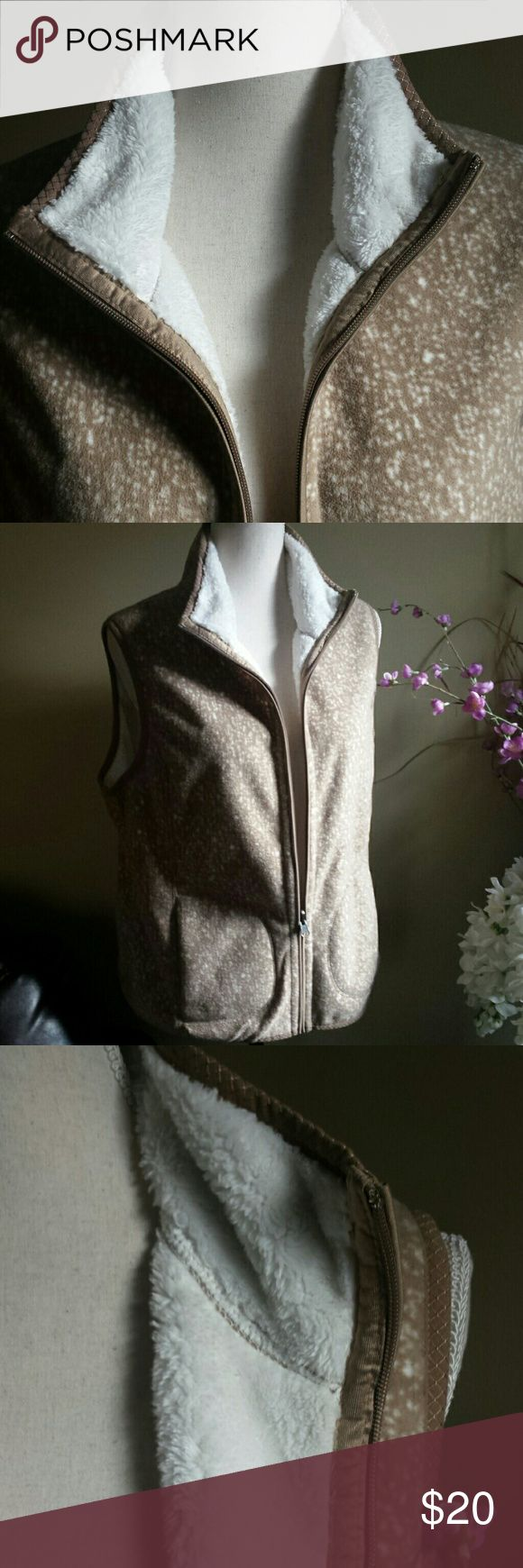 WARM AND FUZZY VEST This vest is in perfect condition! Laura Scott Jackets & Coats Vests