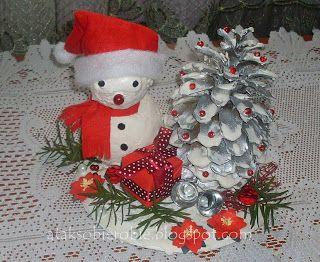 to co lubię...: Bałwankowy Mikołaj :)