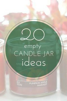 E l l e S e e s: Over 20 Ideas for Empty Candle Jars! These ideas are awesome and could not be easier.