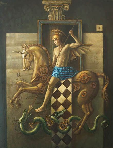 "Jake Baddeley                                           ""Warrior""                                                        Oil on canvas, 2007."