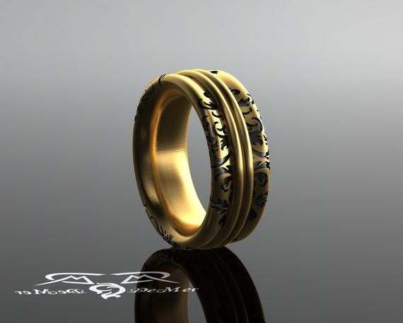 The Most Comfortable Ring You Ll Ever Wear Solid Gold Etsy In 2020 Solid Gold Rings Rings For Men