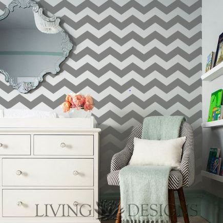 Plantilla Decorativa para el diseño de interiores. Pinta y decora paredes creando efectos como el papel tapiz y vinilos decorativos, solo necesitas pintura acrilica/vinilica, rodillo y listo!