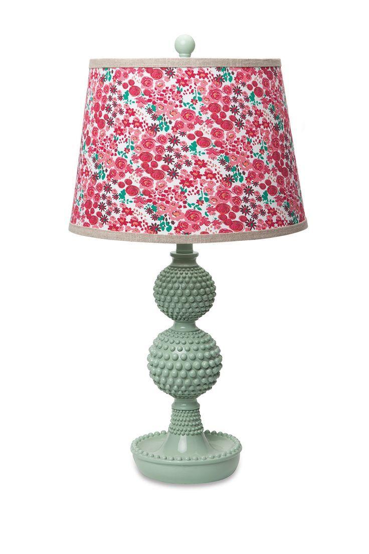 Hobnail Lamp - Green