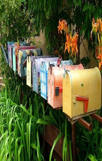 Row Of Mail Box's