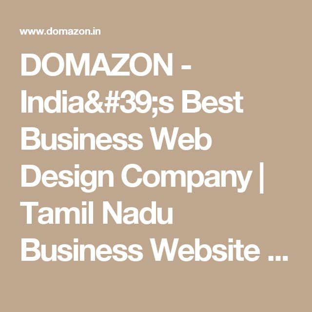 DOMAZON - India's Best Business Web Design Company | Tamil Nadu Business Website Builder| Erode Business Website Templates  | E-Commerce Business Websites in Erode - Tamil Nadu - India | www.domazon.in